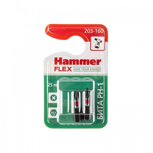 Бита HAMMER FLEX 203-160 PH-1 (25 мм, 2 шт)
