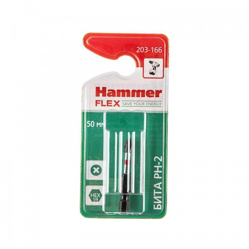 Бита HAMMER FLEX 203-166 PH-2 (50 мм, 1 шт)