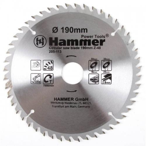 Диск пильный твердосплавный HAMMER FLEX 205-113 CSB WD (190 мм)