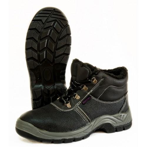 Ботинки литые кожаные утепленные с МБС ПУ подошвой (4208М)